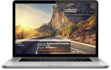 Mockup eines Webdesign Hannover Entwurfs für die Website eines Kunden