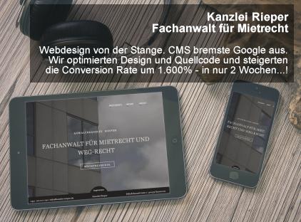 Entwurf eines Webdesigns für eine Kunden Website mit Schwerpunkt auf Optimierung für Mobilgeräte