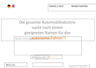 PowerPoint Abbildung eines Kundenentwurfs für das Webdesign Hannover einer Homepage